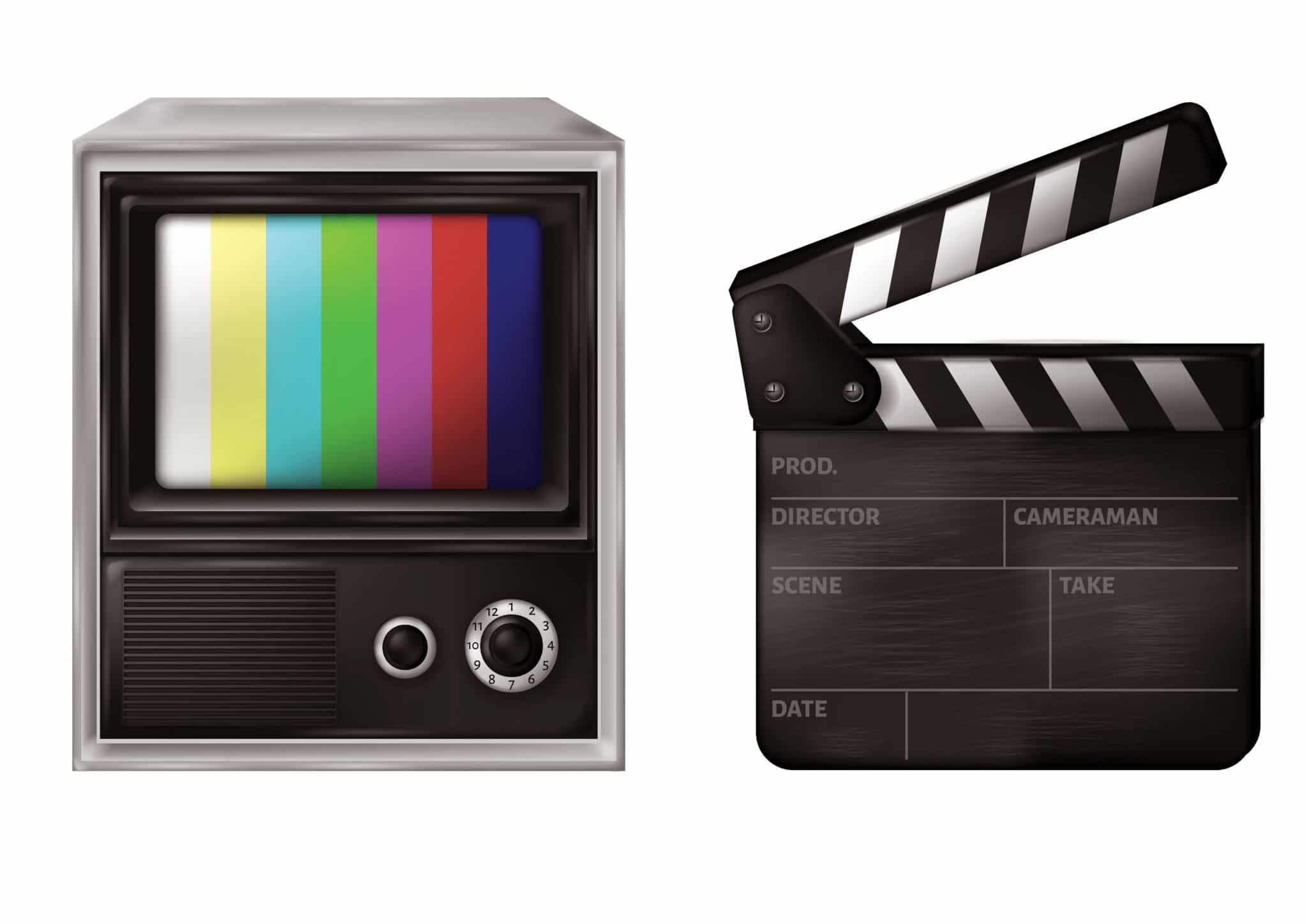 color bars TV and Movie slate representing New York and New Jersey Commercial Production